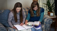 Girls Reading Bible 2