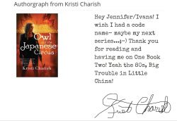 Charish Authorgraph