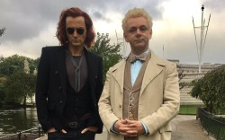 David Tennant and Michael Sheen in Good Omens (2018)